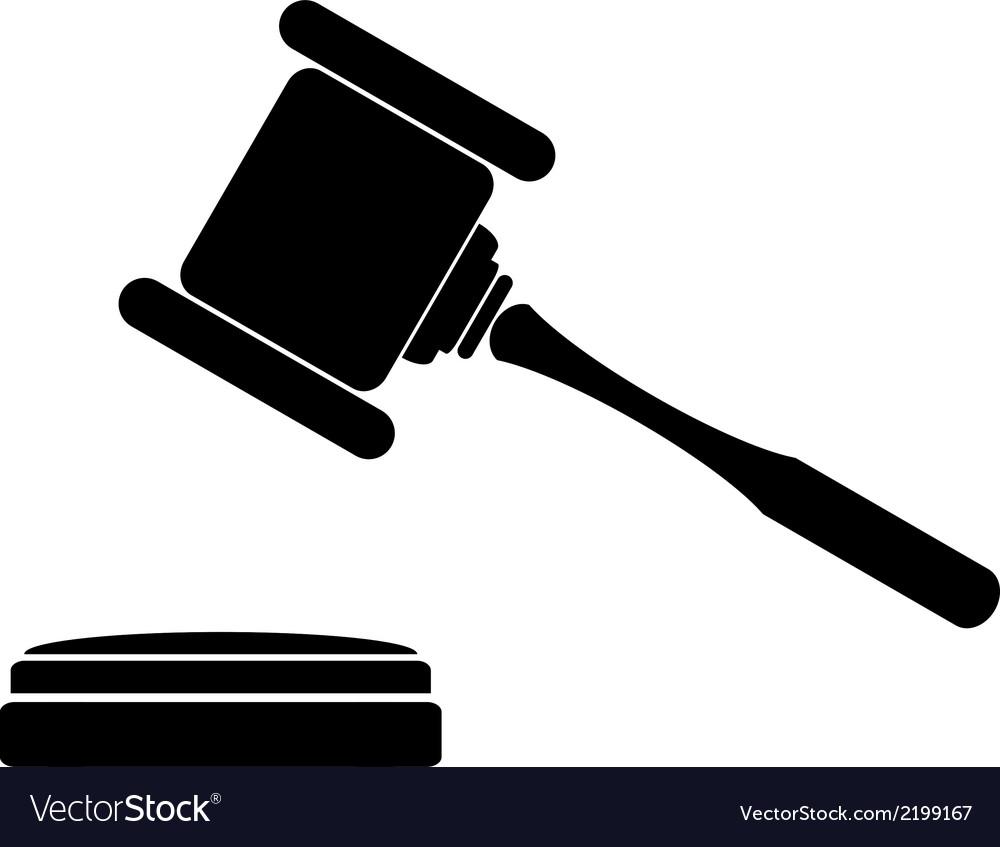 judge gavel icon royalty free vector image vectorstock rh vectorstock com gravel victor montana gavel vector logo