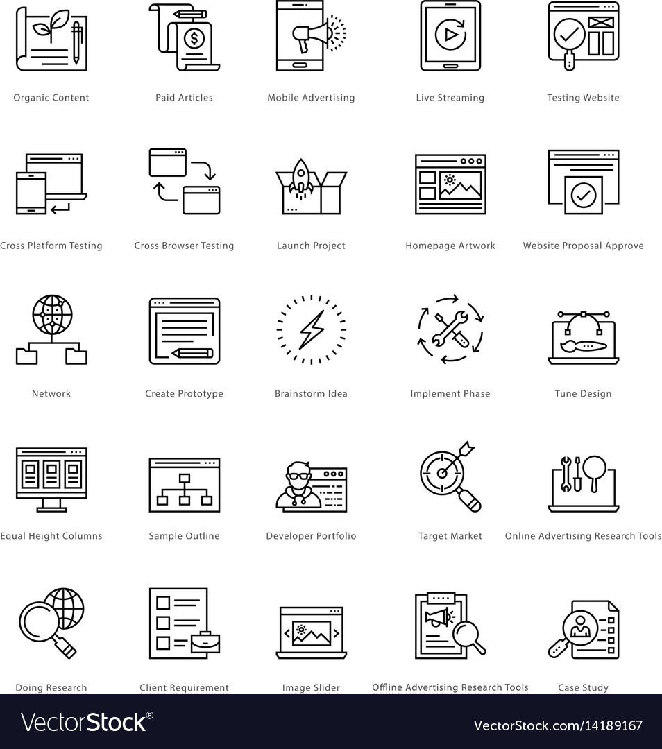 Web and seo line icons 30