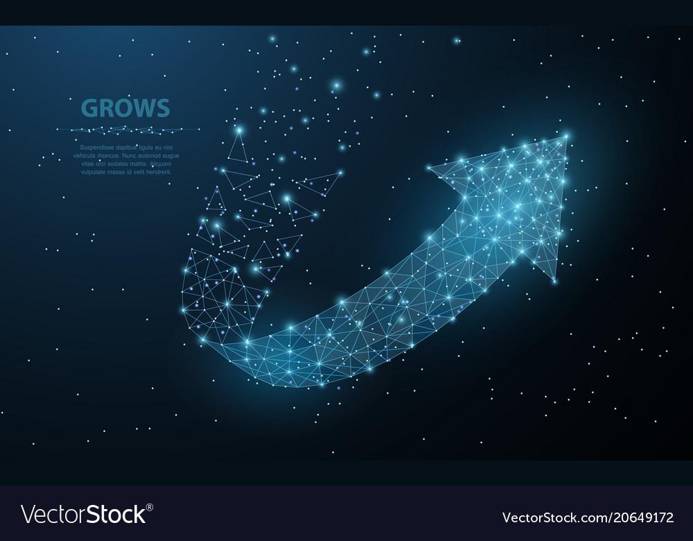 Arrow growth polygonal mesh art looks like