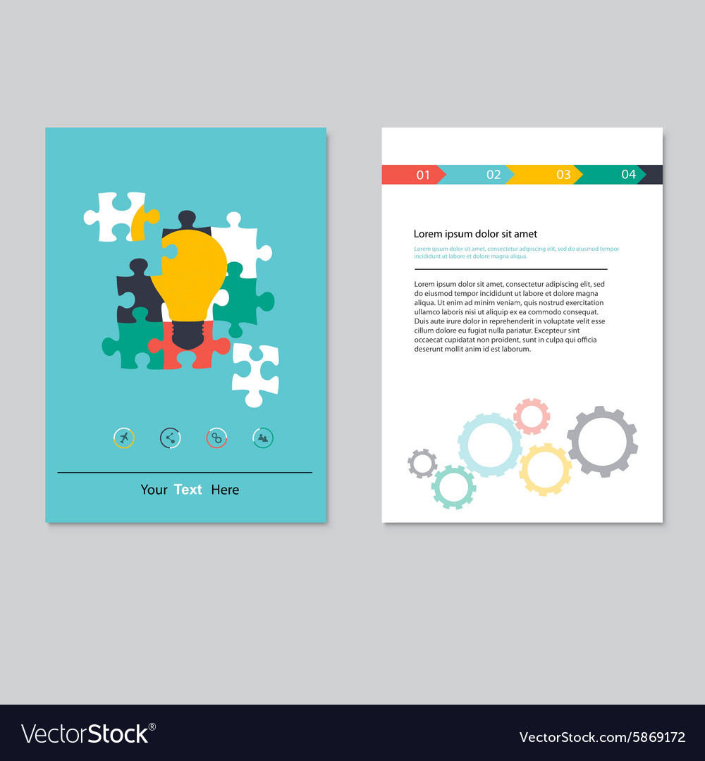 Brochure template design Abstract BackgroundsFlat