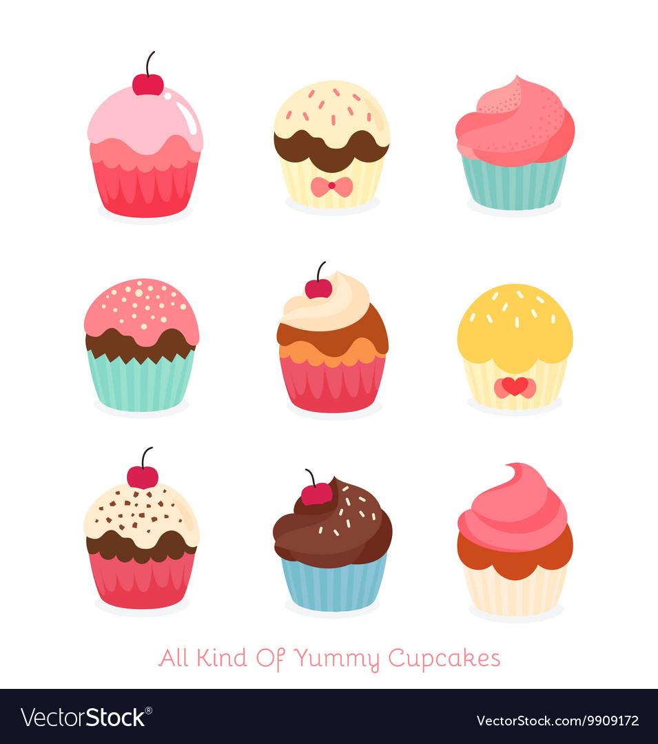 Lovely Cupcake Icon Set
