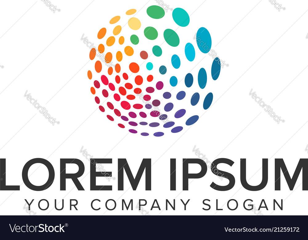 Multicolor circular dot logo