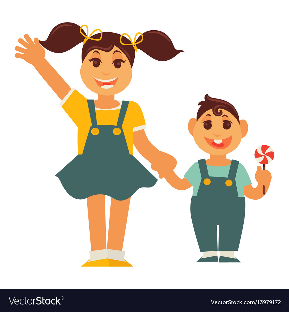 Image result for animated image of brother and sister