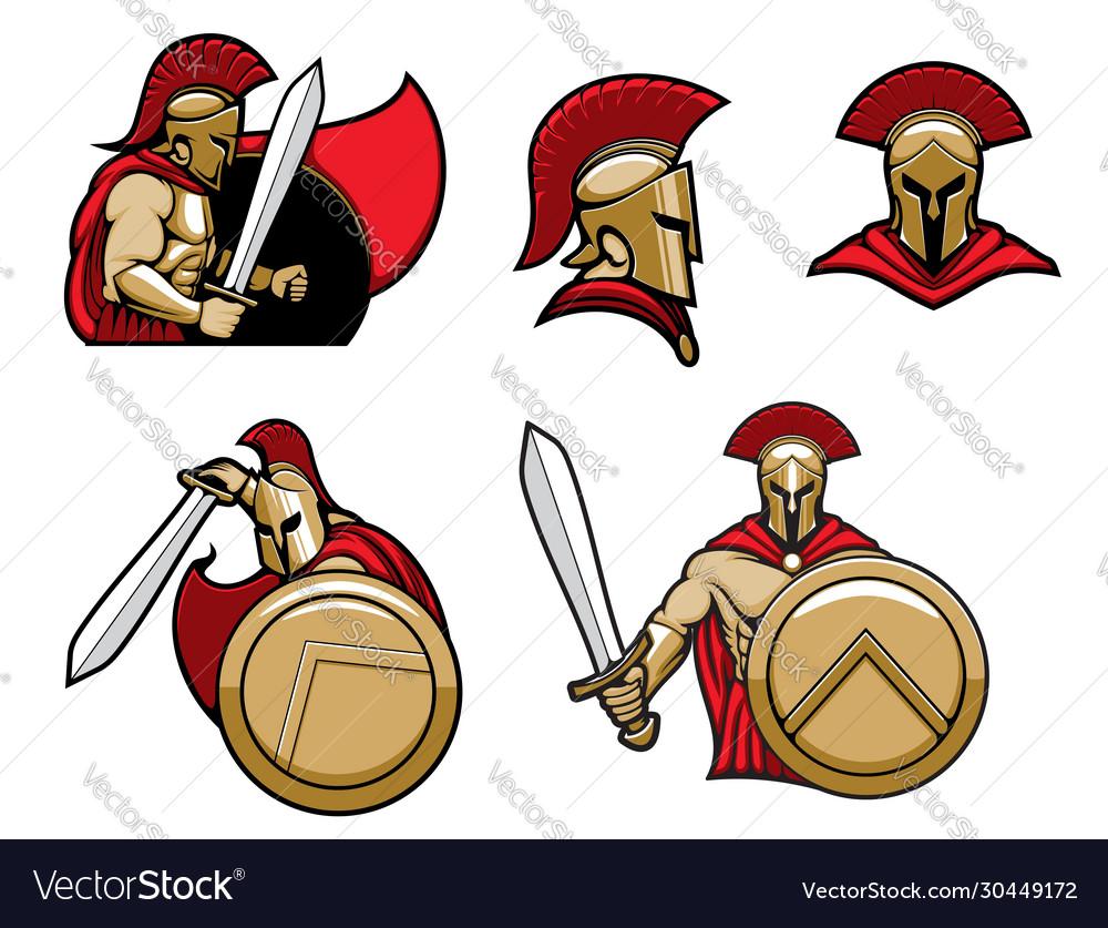 Spartan warrior greek sparta soldier in armor