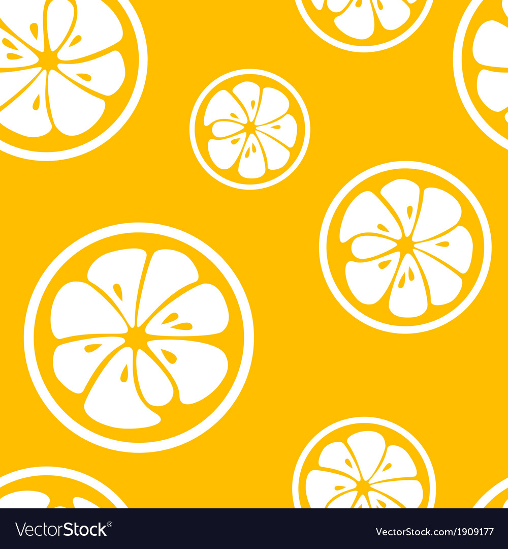 Abstract citrus fruit seamless pattern