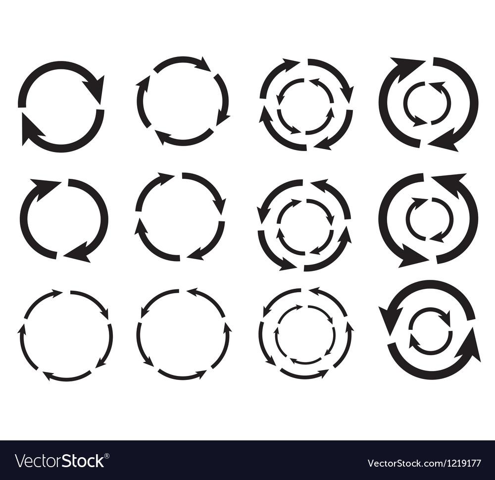 Arrow circle graphic design eps10