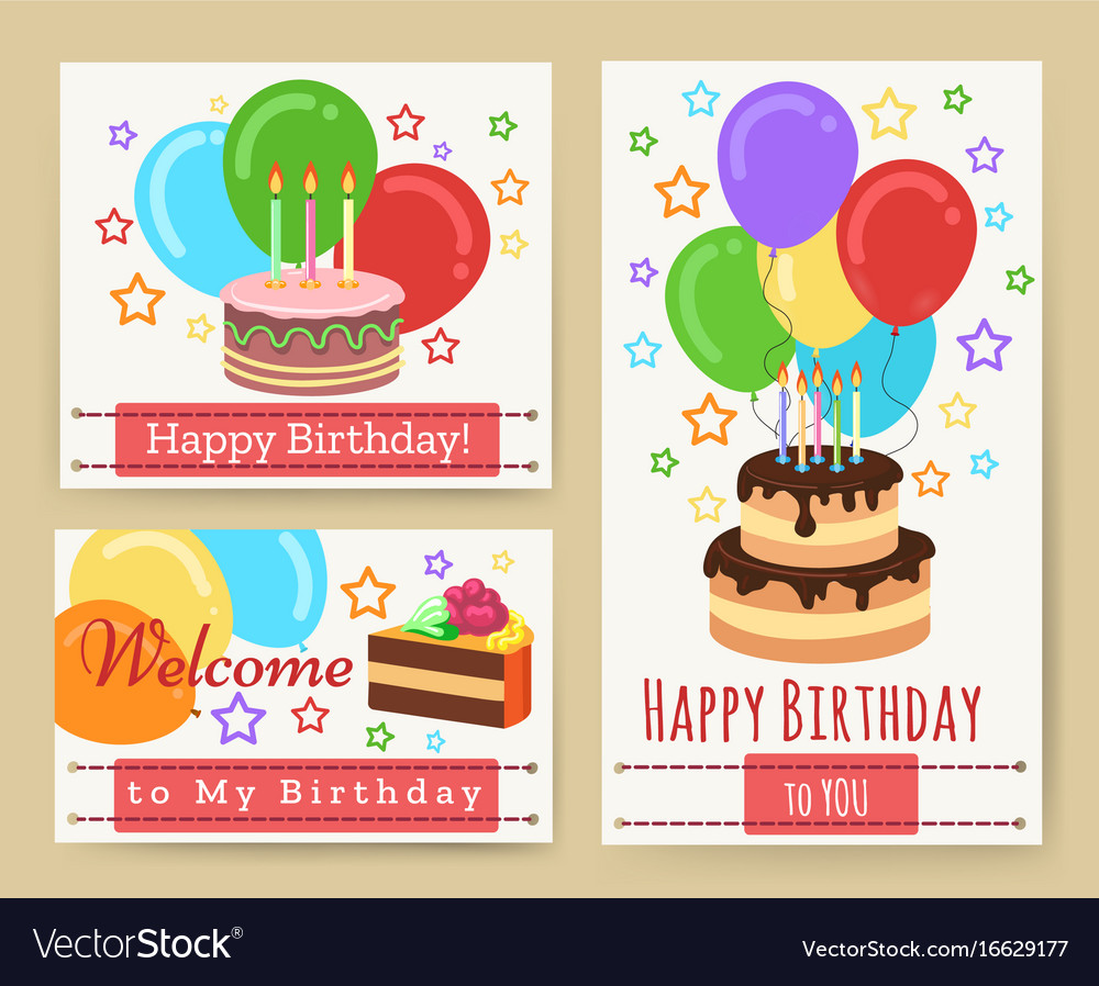 Fabulous Birthday Greeting Card Templates For Kids Vector Image Funny Birthday Cards Online Fluifree Goldxyz