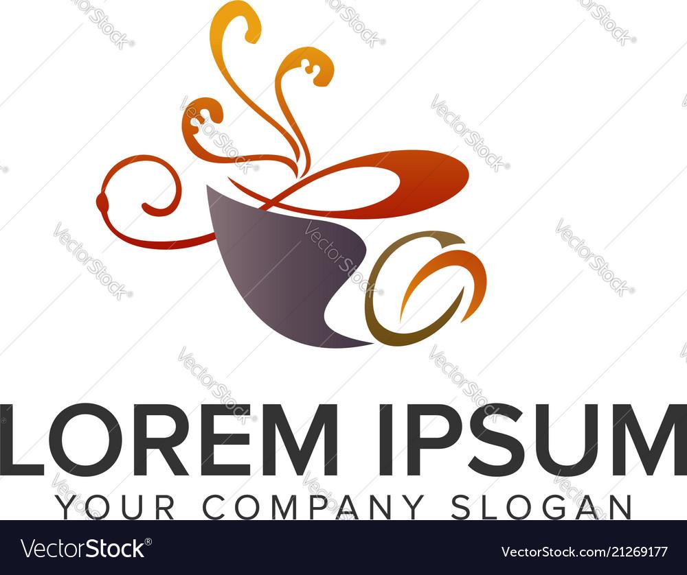 Coffee logo design concept template fully editable