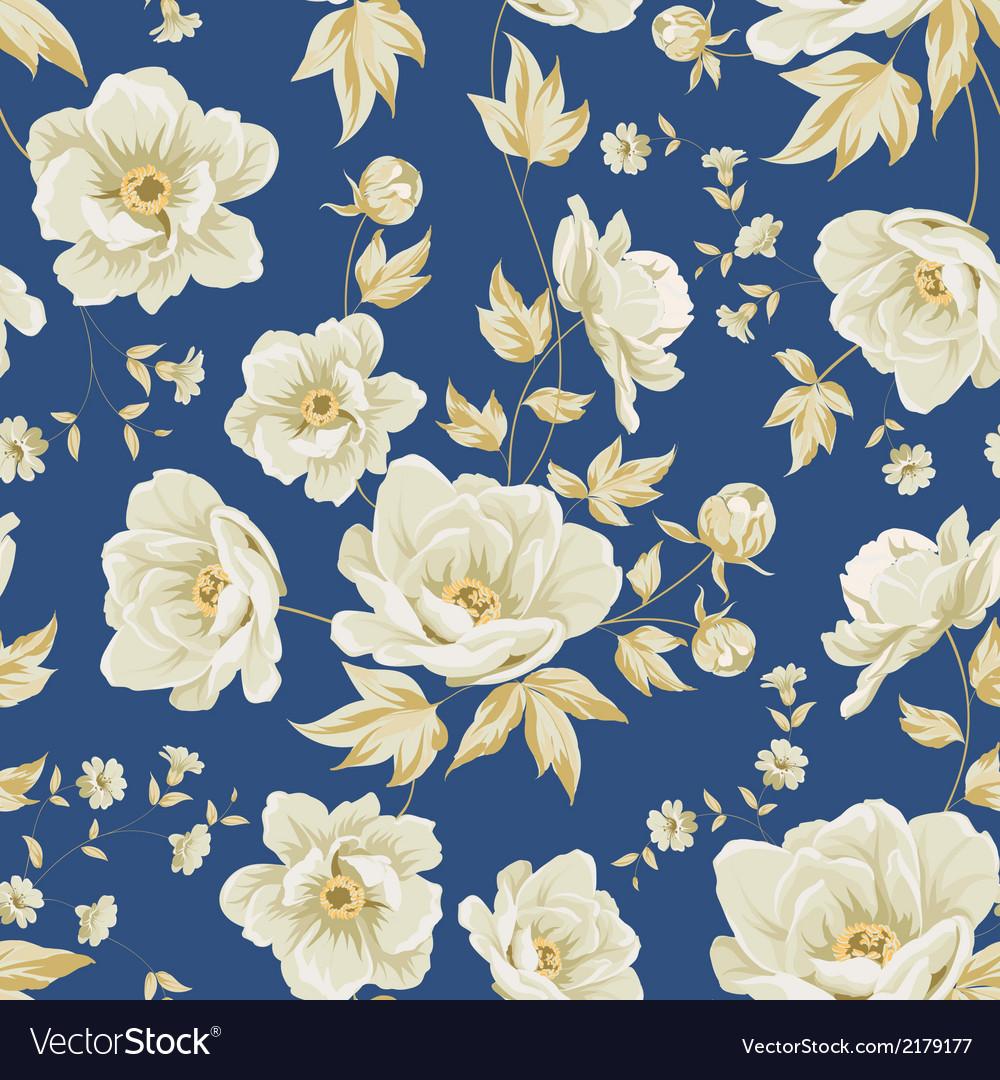 Design Of Vintage Floral Pattern Royalty Free Vector Image