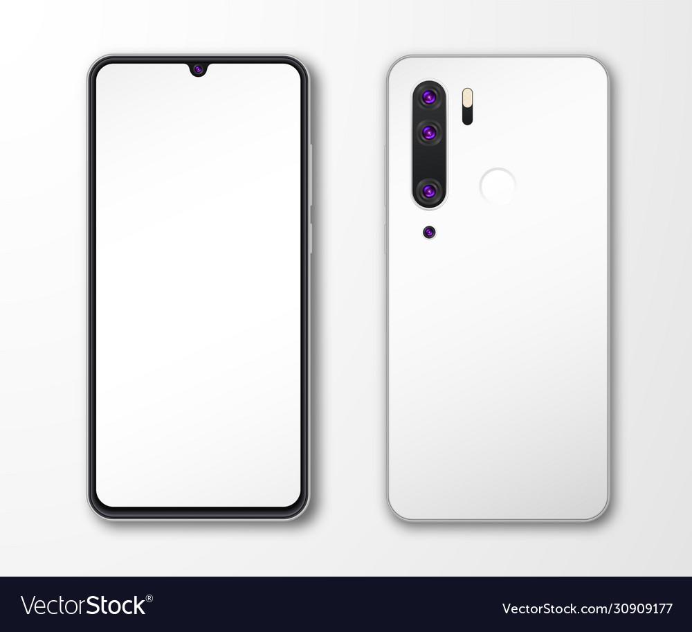 Realistic smartphone mock up set mobile phone