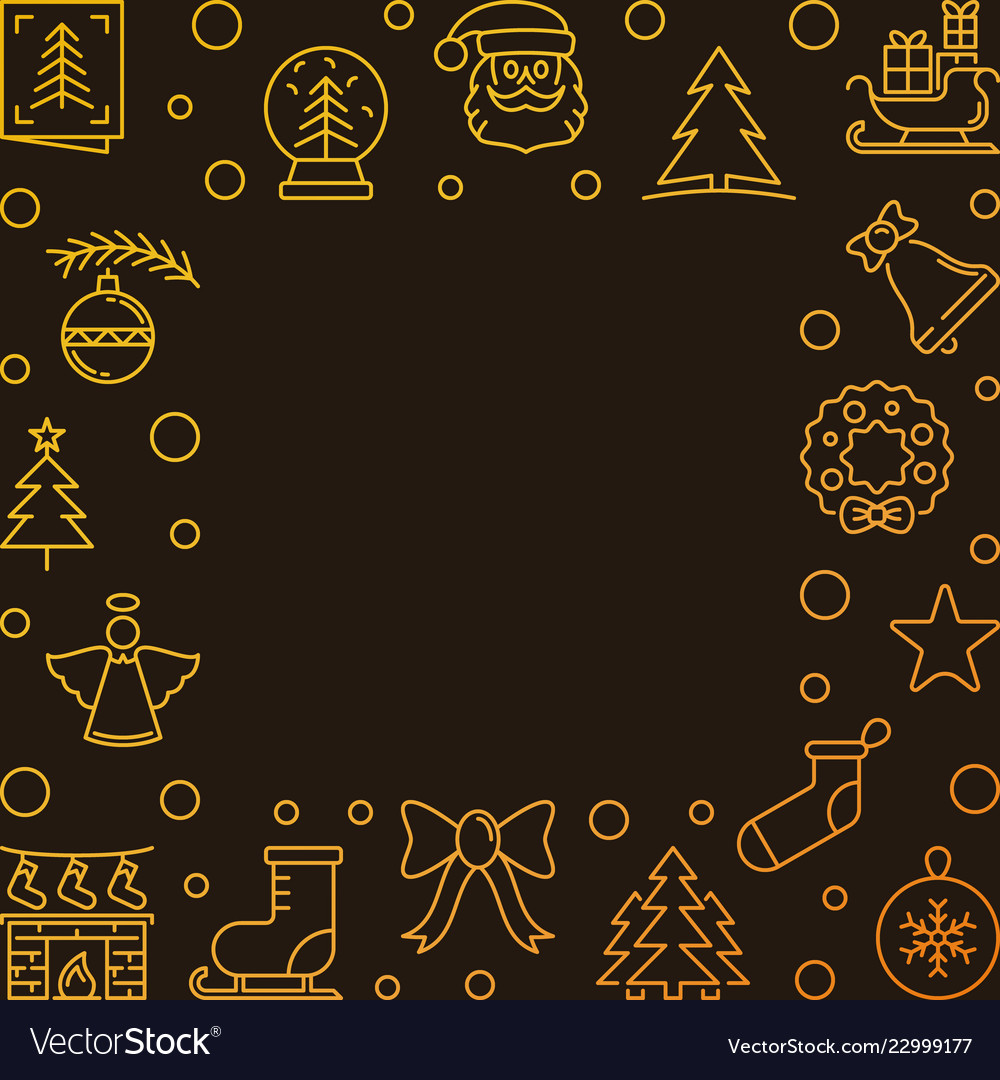 Xmas golden line background with empty