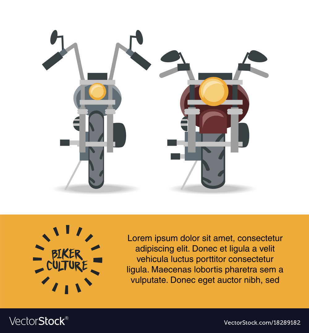 Biker culture design