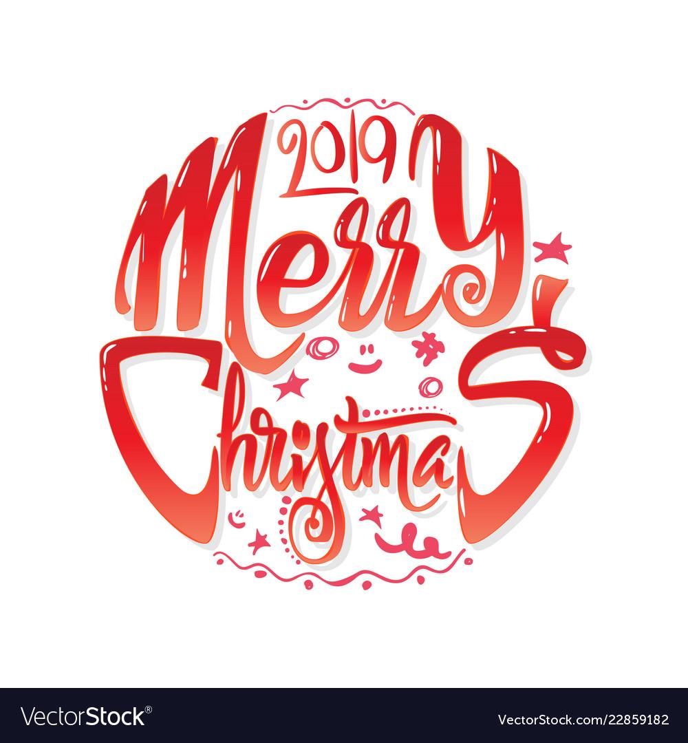 Congratulations merry christmas calligraphy