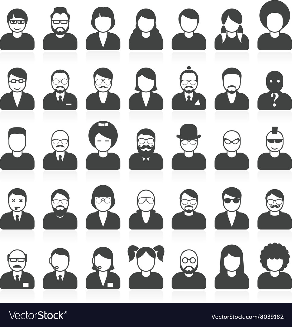 People avatars and user pics in different style