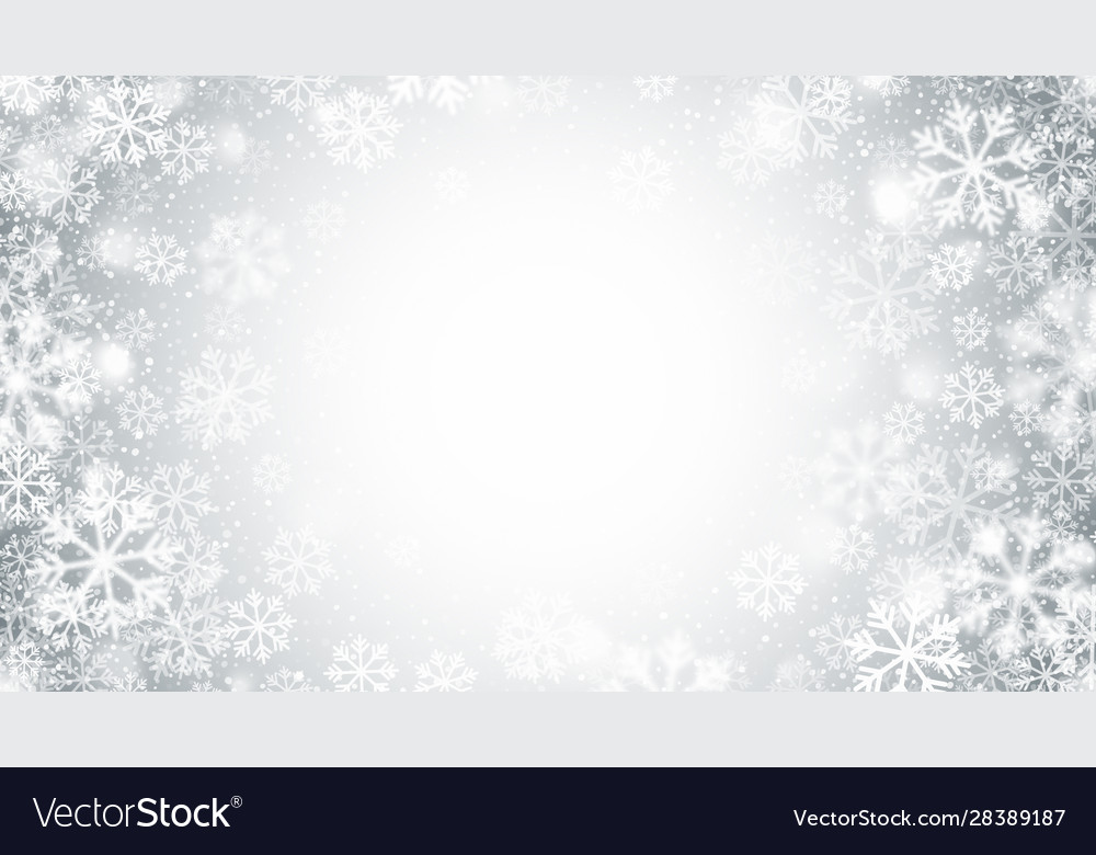 Blurred motion swirling snow round frame