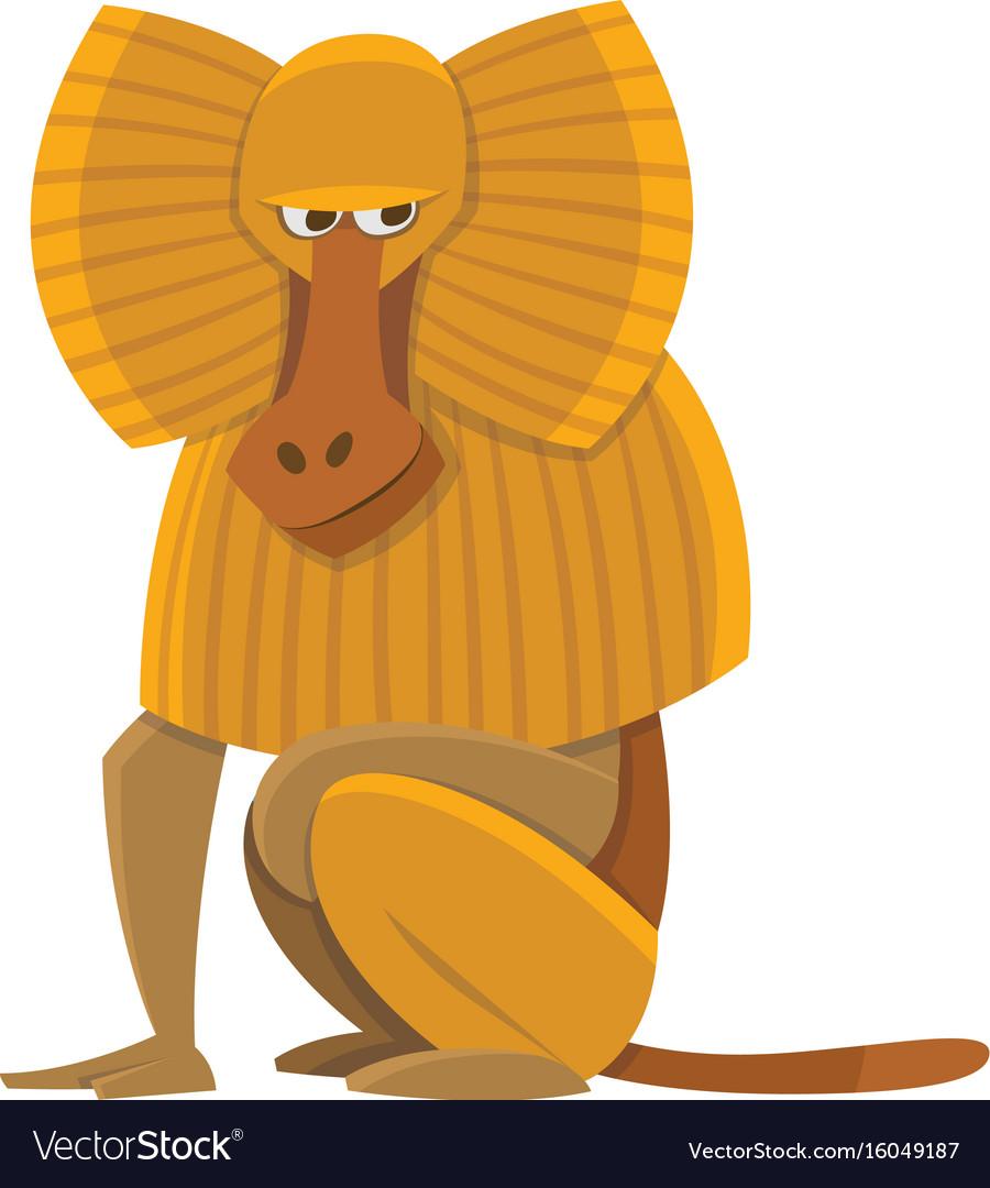 Cartoon baboon