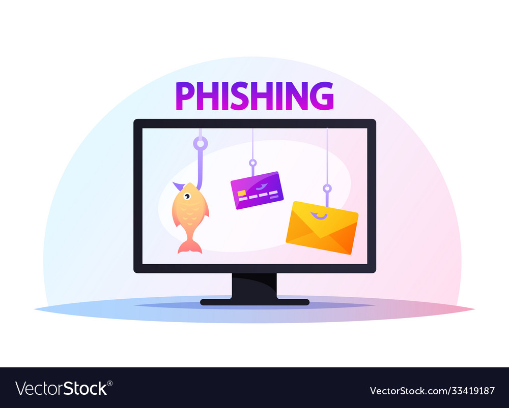 Computer monitor with credit cards hanging