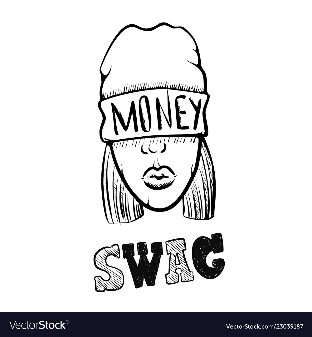 Hip hop music girl pretty young urban rap girl