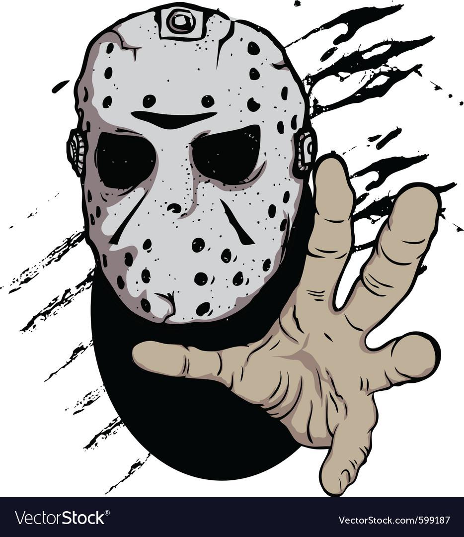 Horror hockey mask halloween