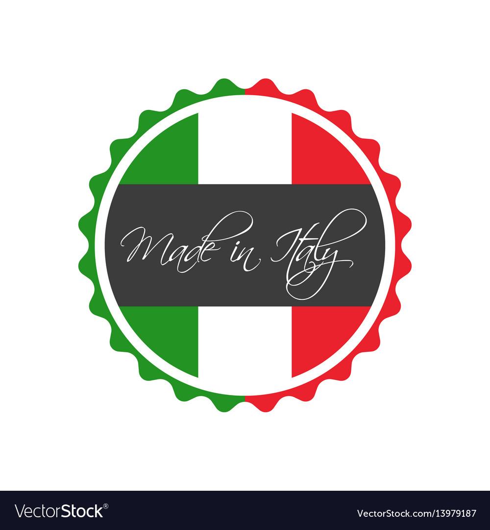 Made in italy symbol italian sticker vector image