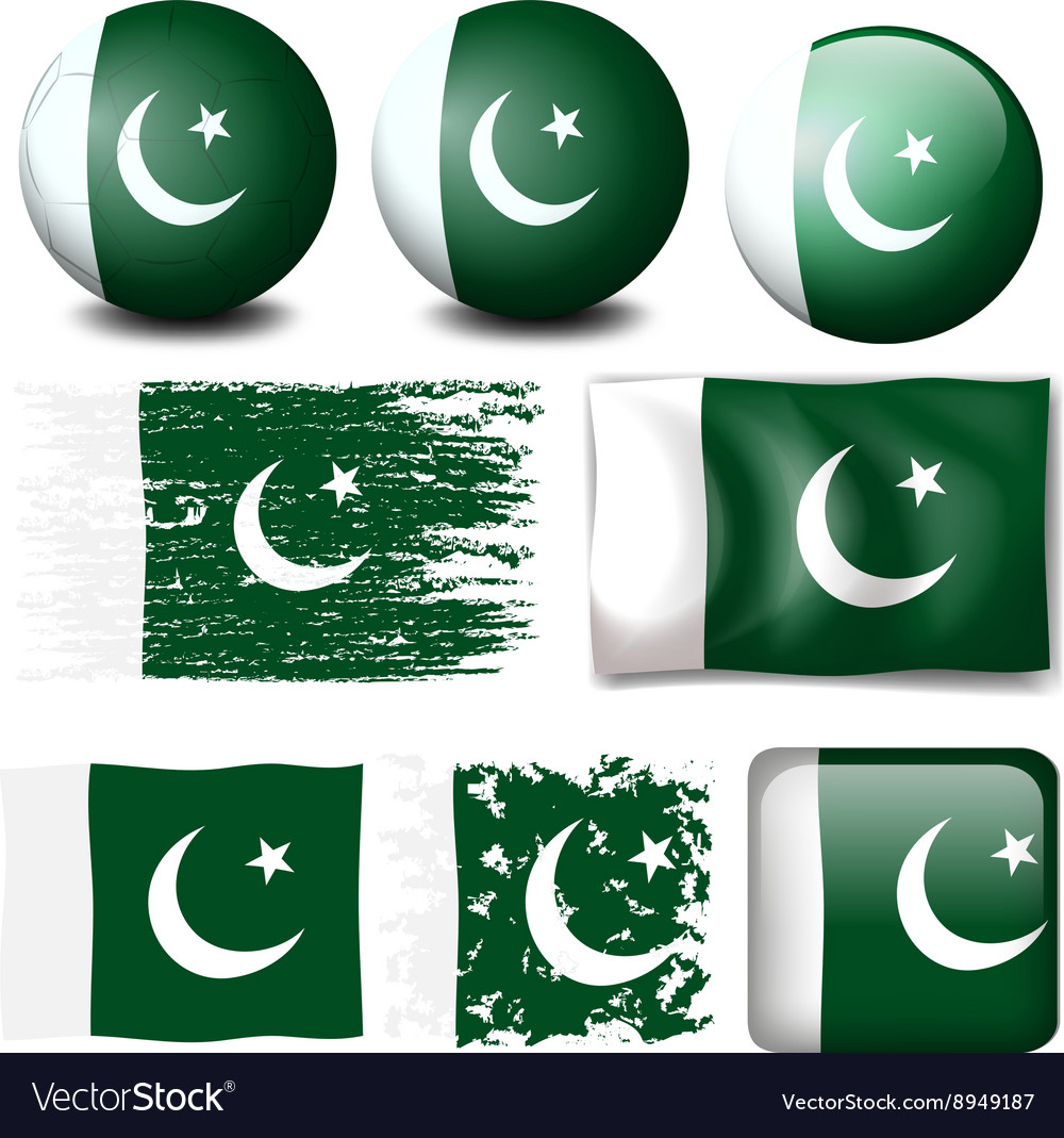 Pakistan flag on different objects