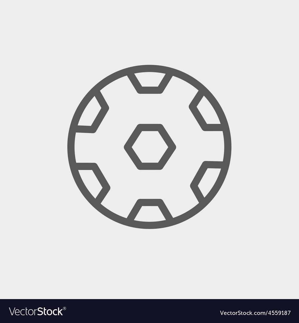 Soccer ball thin line icon