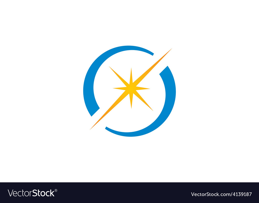 Spark star shine circle logo