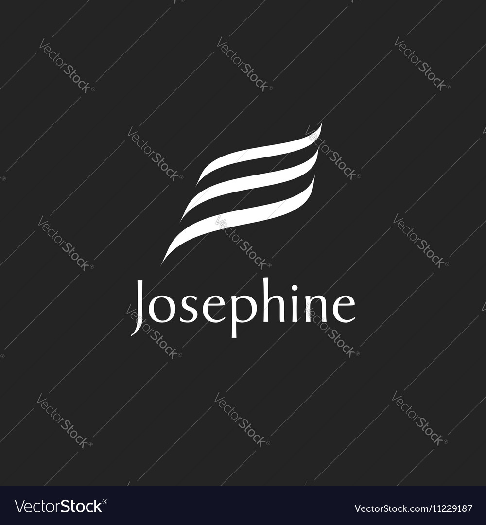 Wave logo isolated elegant vector image