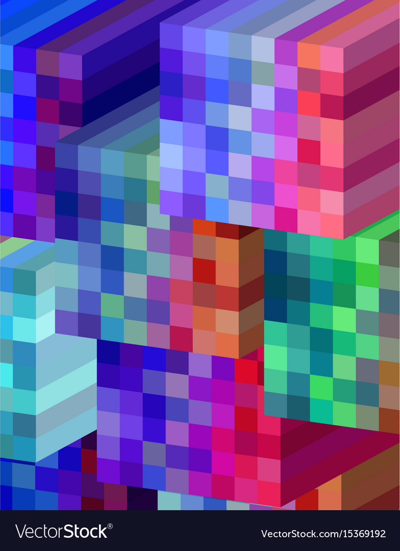 Background cubical abstract design vector image
