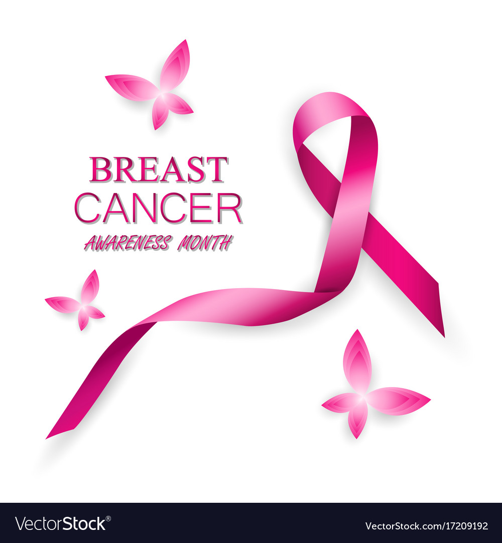 Breast cancer awareness pink ribbons
