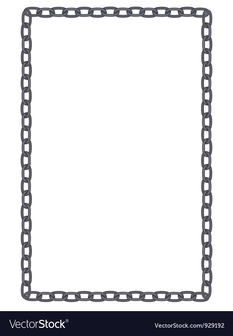 simple metal frame  Plain and simple metal chain