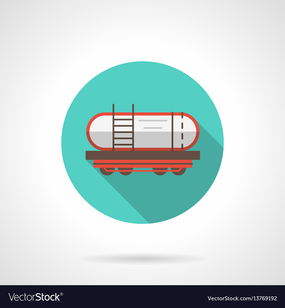Railway barrel blue round icon