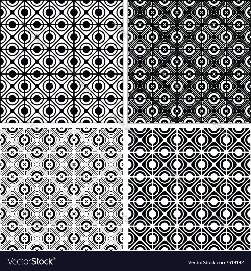 Seamless checked crisscross patterns set