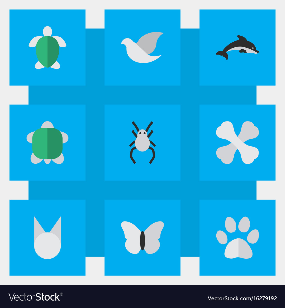 Set of simple zoo icons