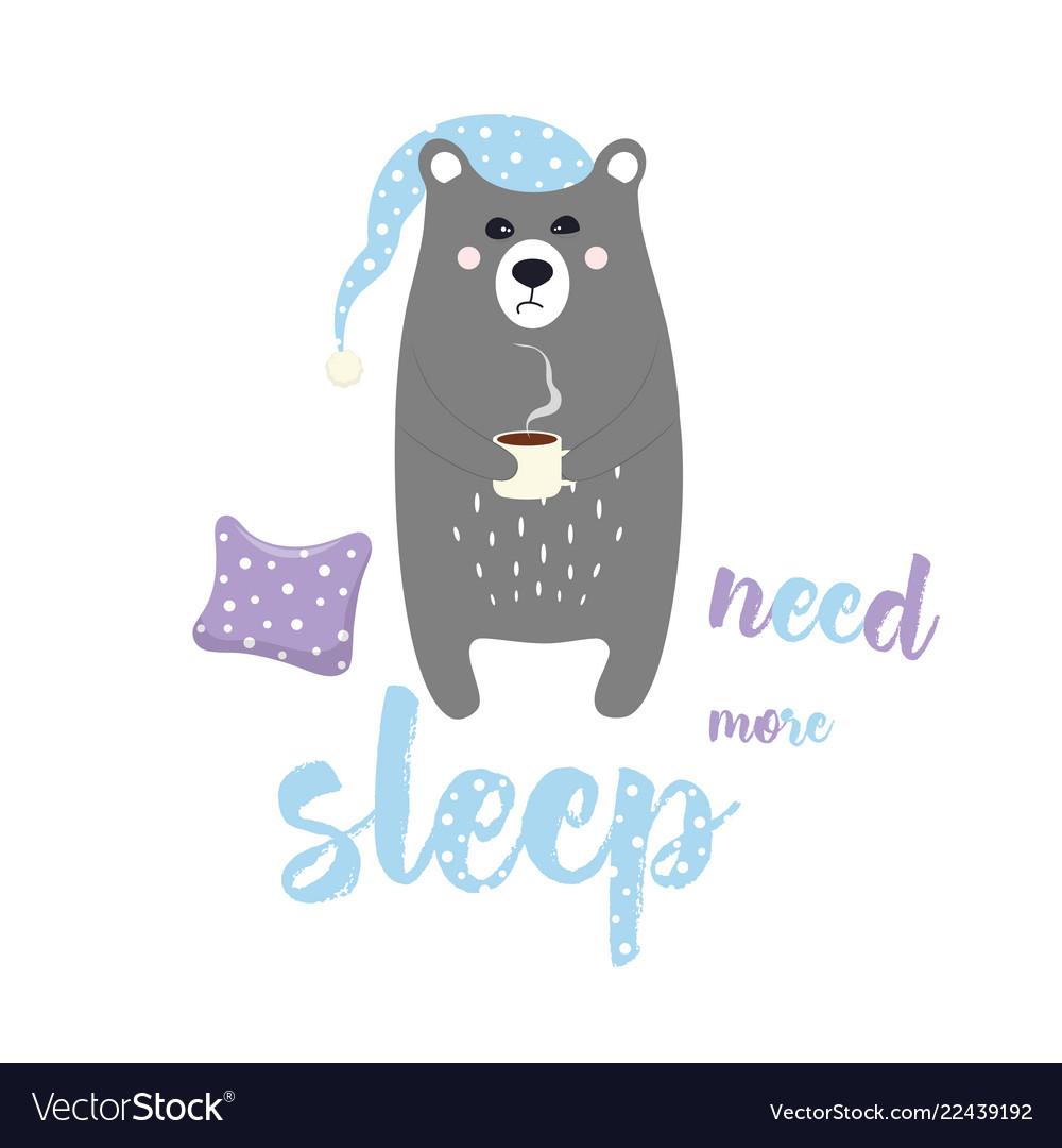Sweet sleepy bear