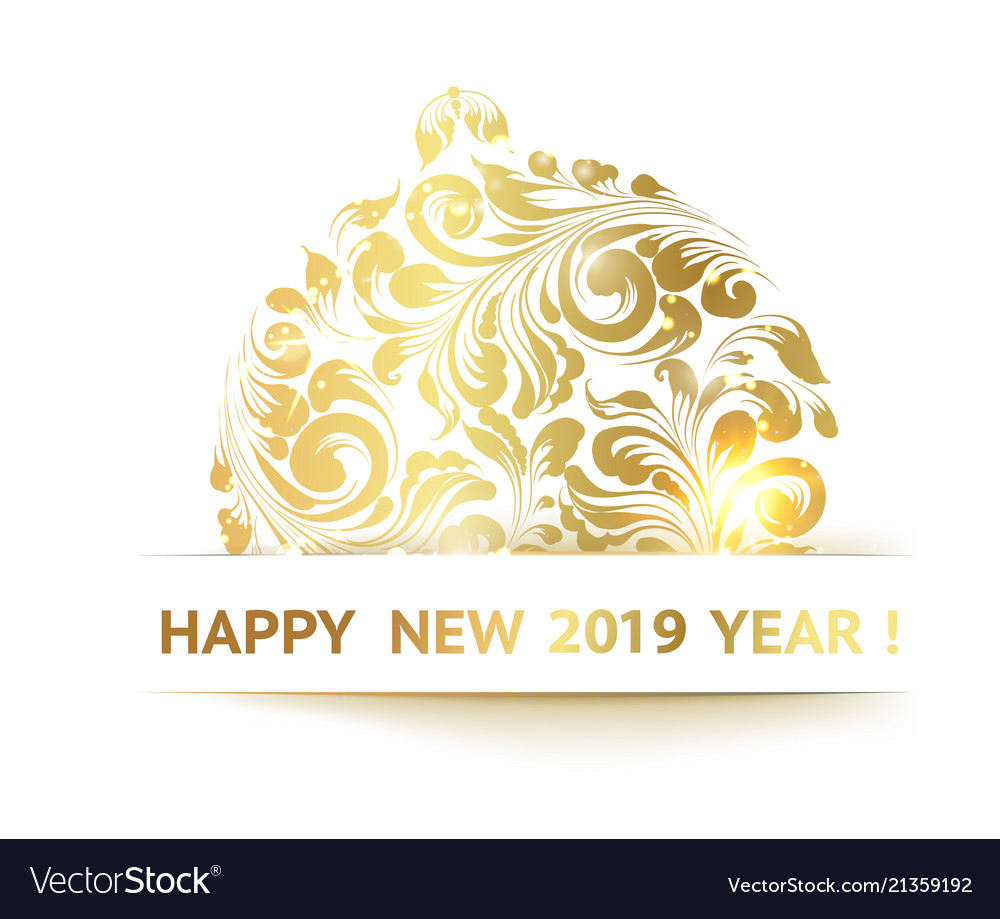 The happy new year card