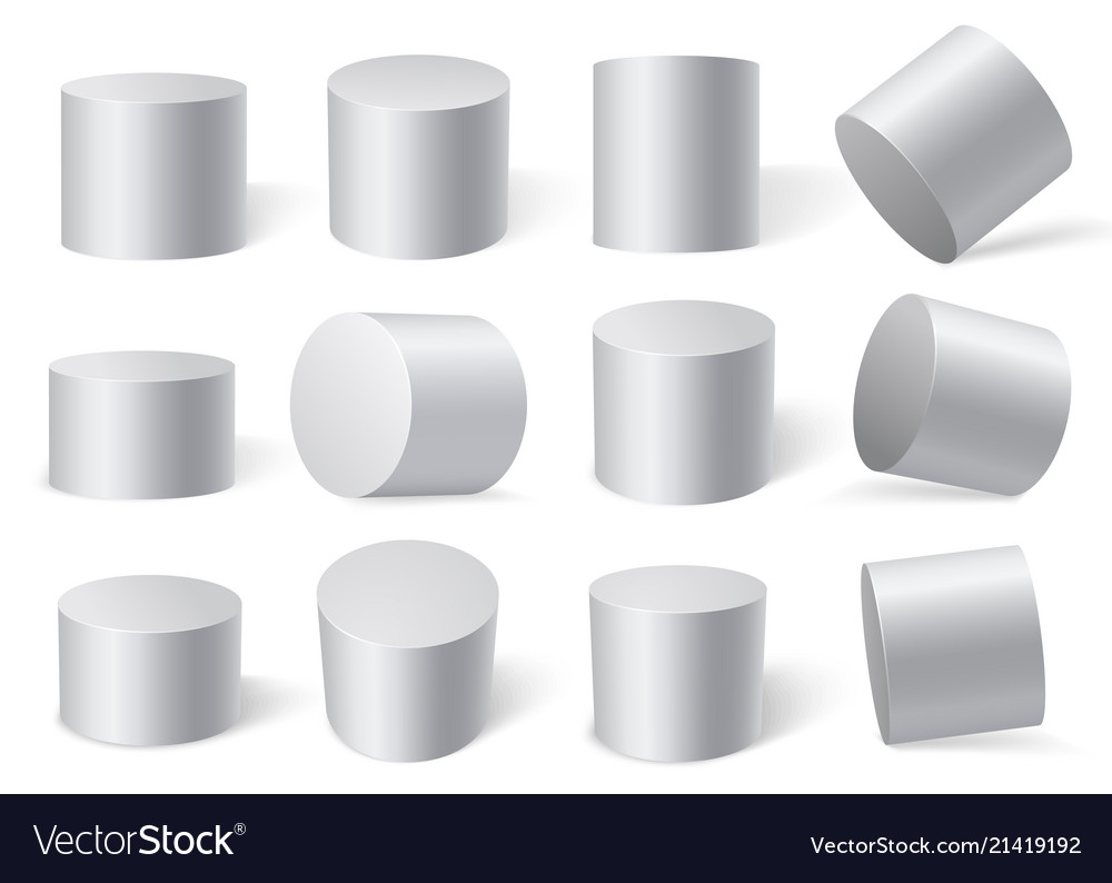 White cylinders on different angles