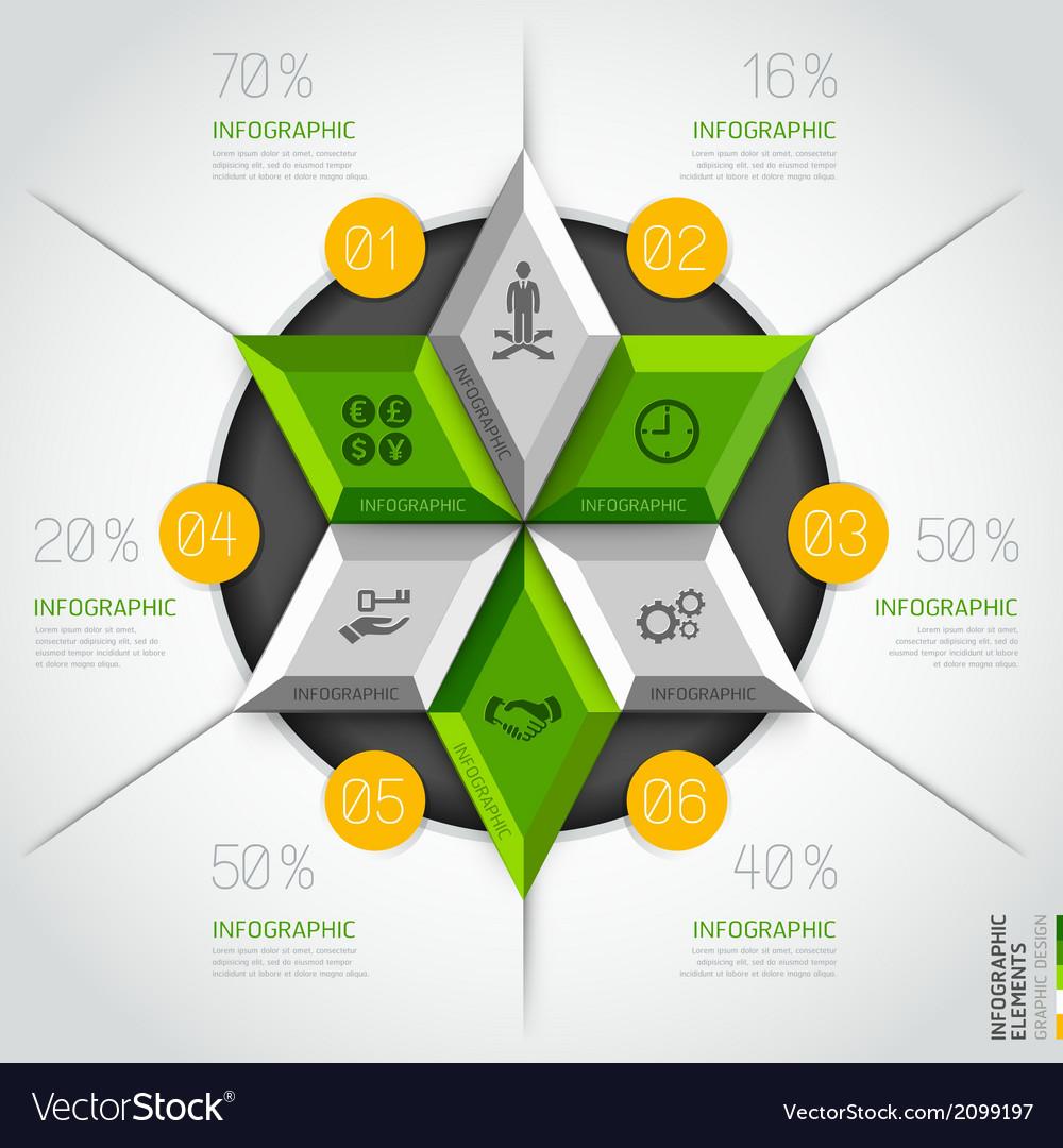 3d business diagram circle template