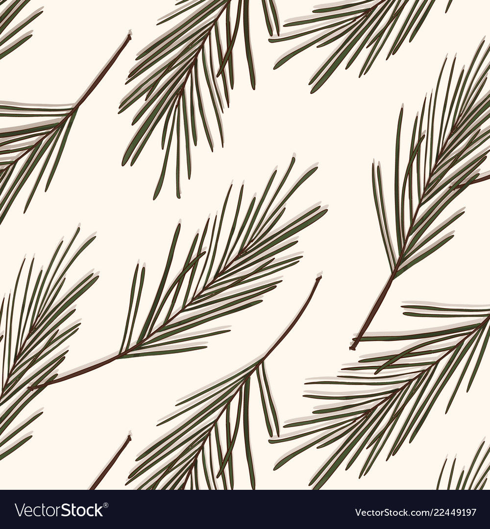 Evergreen tree pattern vintage new year