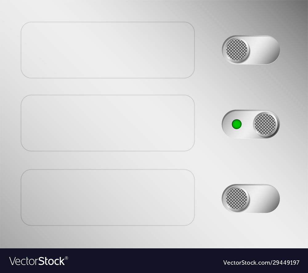Metal switches or switches aluminium control