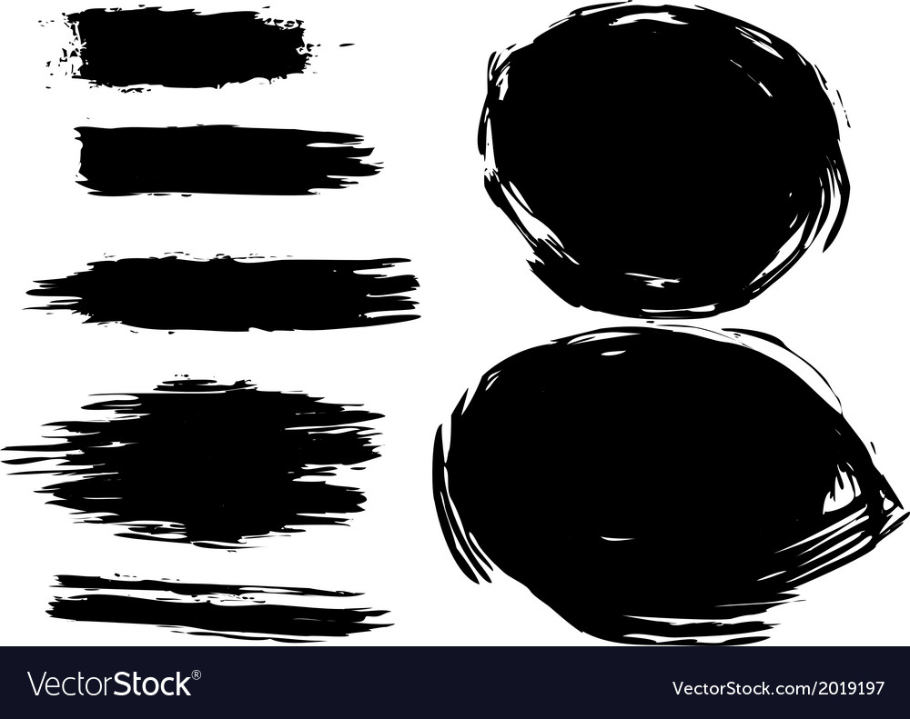 Set of artistic brush