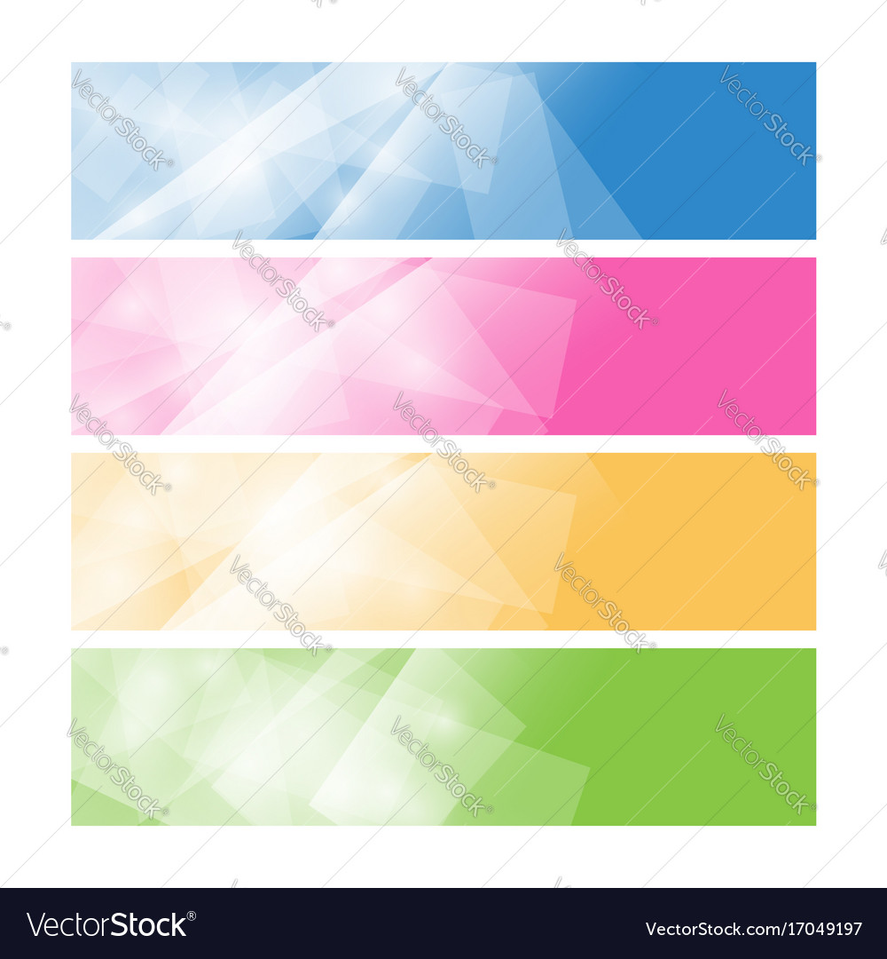Set of colorful polygonal banners