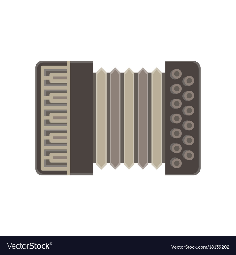 Accordion isolated music icon musical instrument