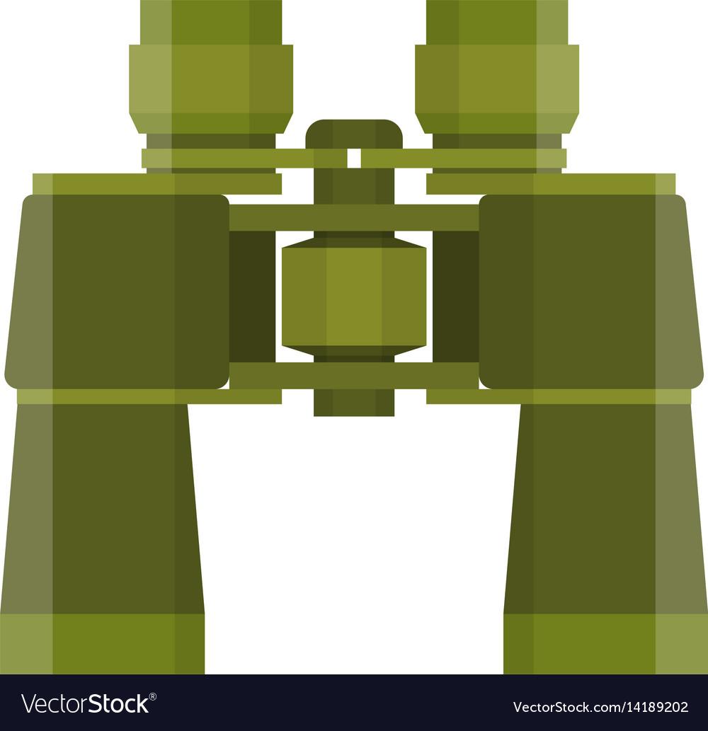 Binoculars travel or military icon vector image