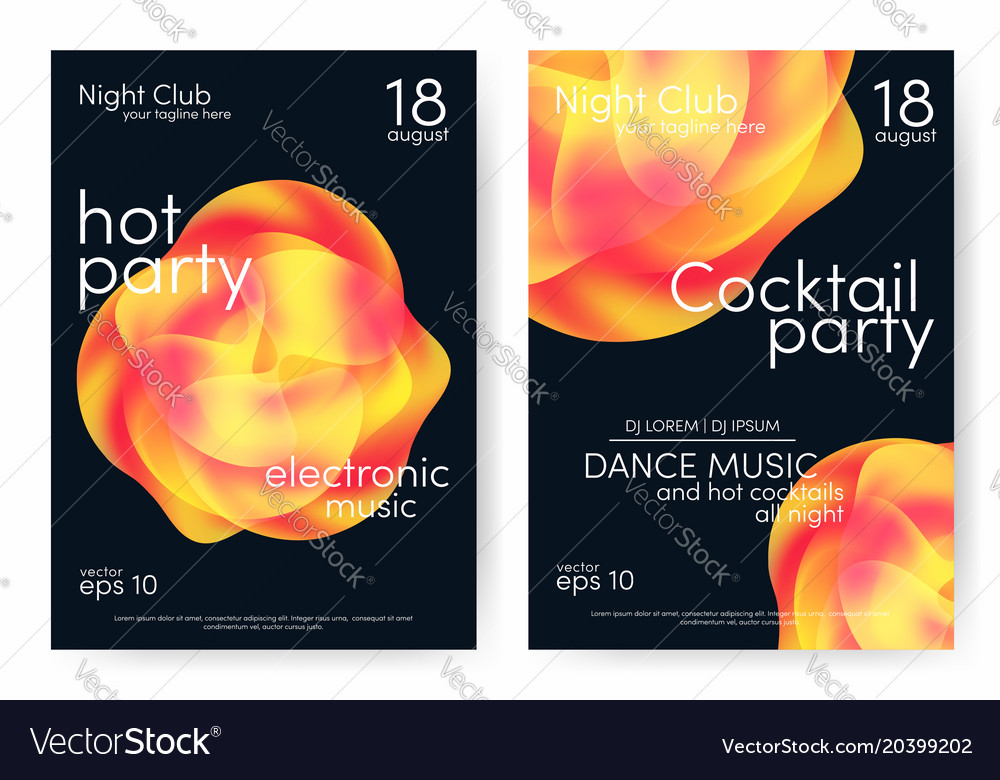 Dance party and cocktail party poster music