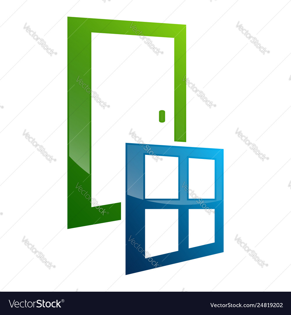Door window frame concept design symbol graphic