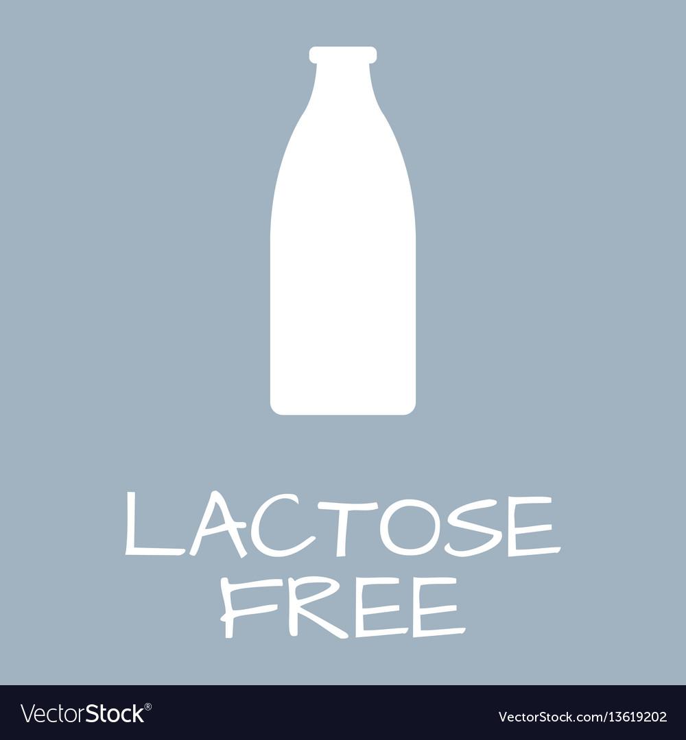 Lactose Free Label Food Intolerance Symbols Vector Image