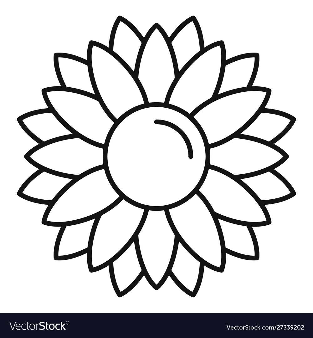 Rustic Sunflower Icon Outline Style Royalty Free Vector Download 2,300+ royalty free sunflower outline vector images. vectorstock