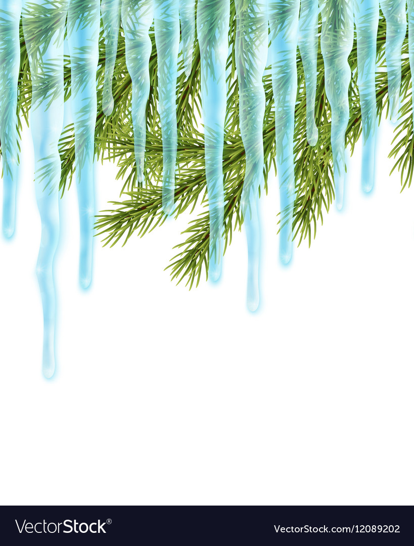 Seamles border with icicles Royalty Free Vector Image