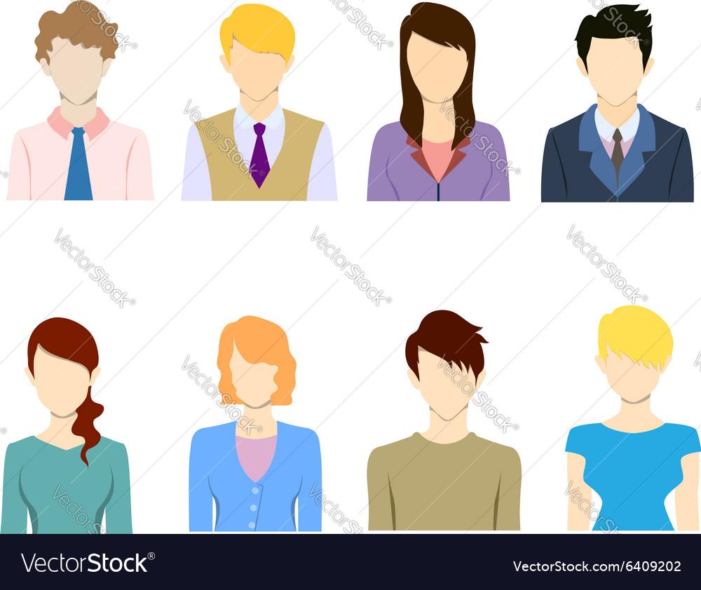 Staff avatar icon set vector image